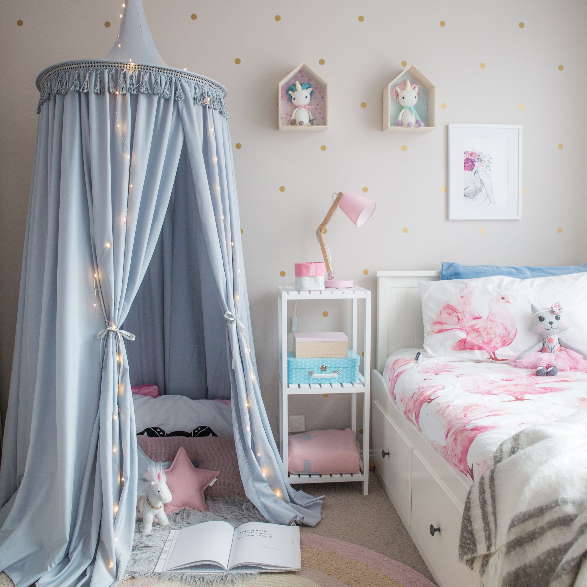 Kidu0027s hanging play canopy tent in light grey! Gorgeous! Girls bedroom ideas hang : hanging play canopy - memphite.com