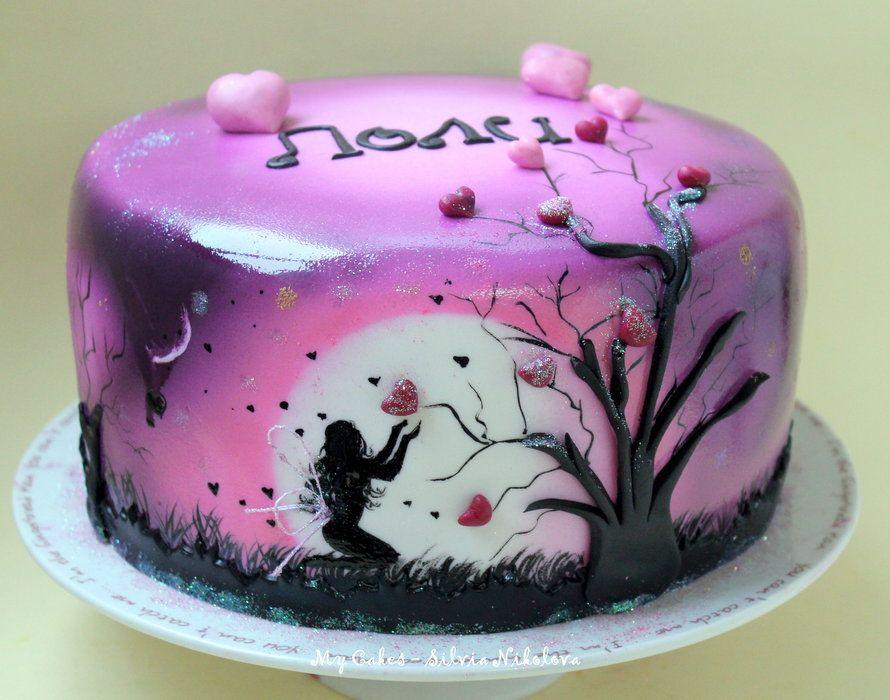 Night Love Angel Cake by marulkas CakesDecorcom cake
