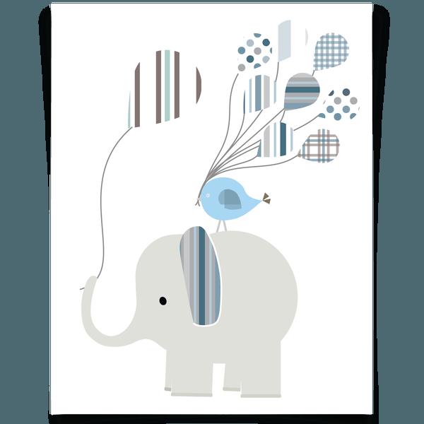 Free Printable Elephant Nursery Art For A Little Boy