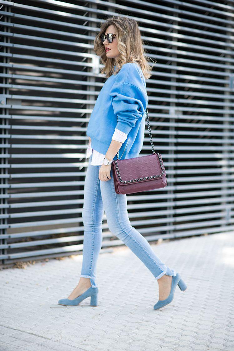Pullover u mi aventura con la moda white and light pink striped
