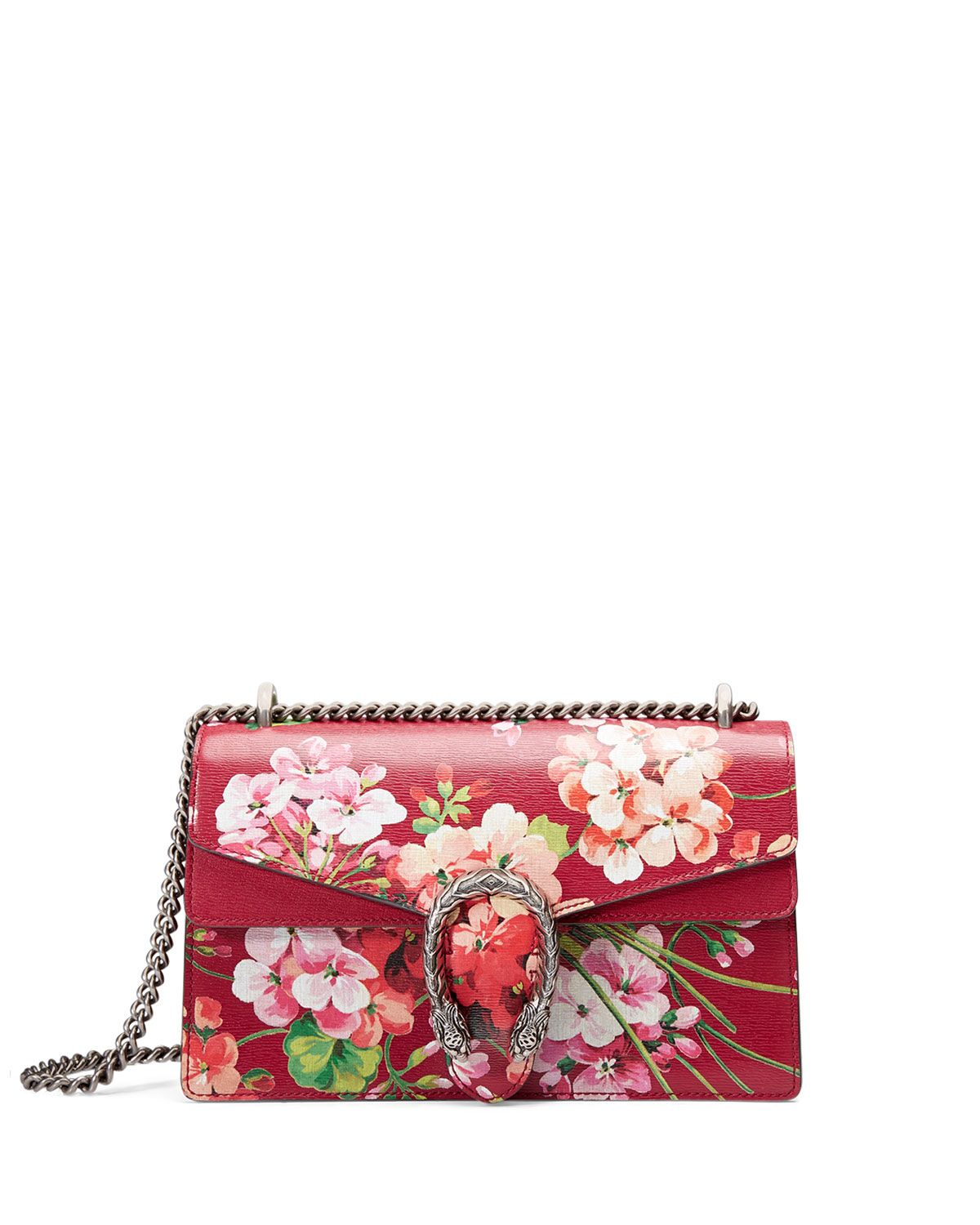 846e8995f51f Dionysus Blooms Small Shoulder Bag, Red, Size: S, Red With Blooms - Gucci