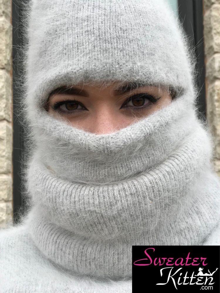 Fuzzy & Fluffy Angora Balaclava - Sweater Kitten | Balaclava, eBay ...
