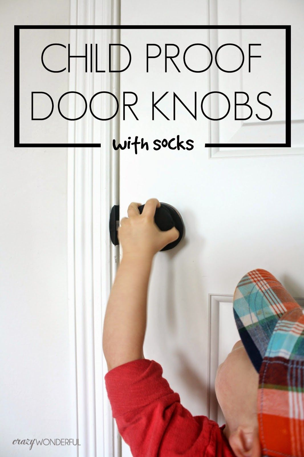 Crazy Wonderful Child Proof Door Locks With Socks Kid