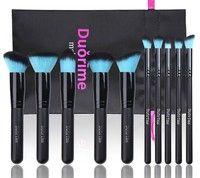 Wish | Soft 10PCS Cosmetics Make up Brushes Tools Black Blue Foundation Powder Blush Brush