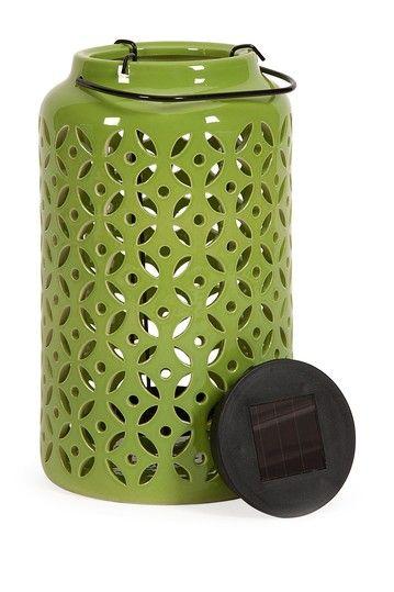 Another solar lantern Blair Green Ceramic Candle Lantern by