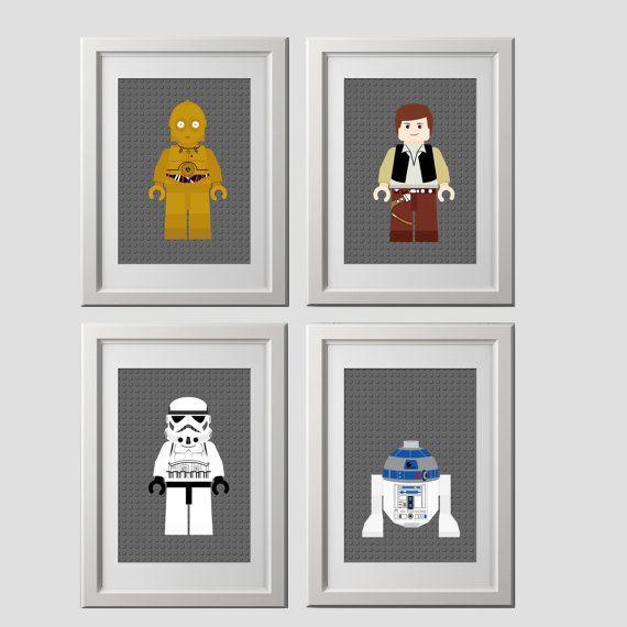 star wars wall art PRINTS, shipped to your door, star wars bedroom ...