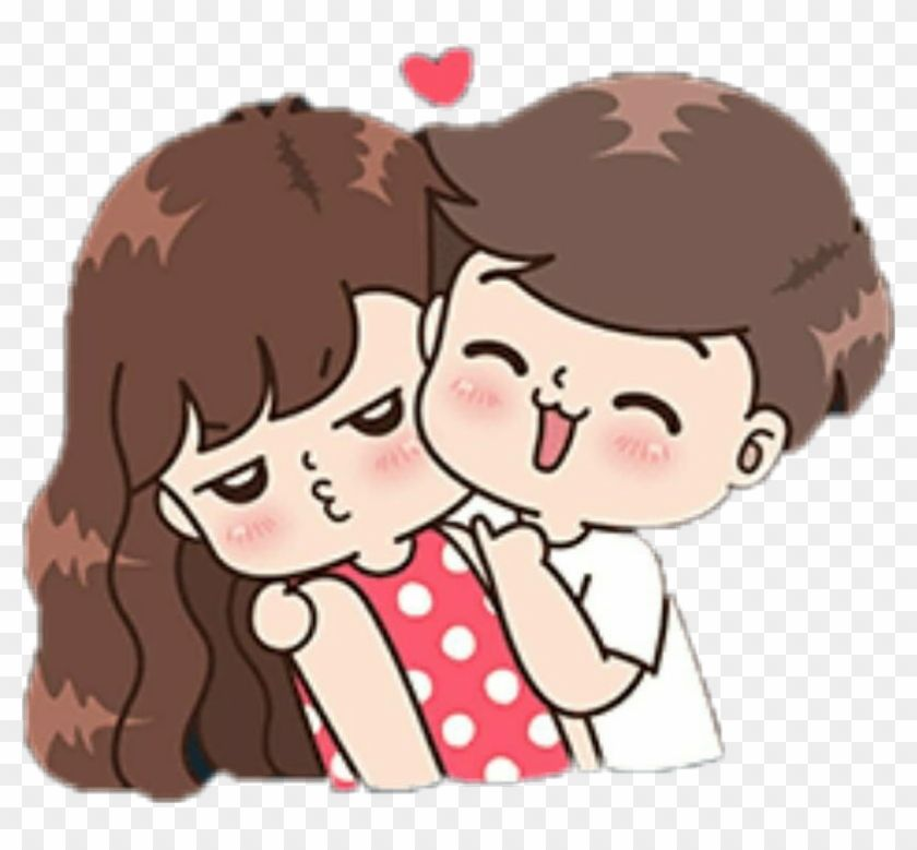 Download Parejas Sticker - Boobib Cute Couple Stickers Clipart Png Download - PikPng