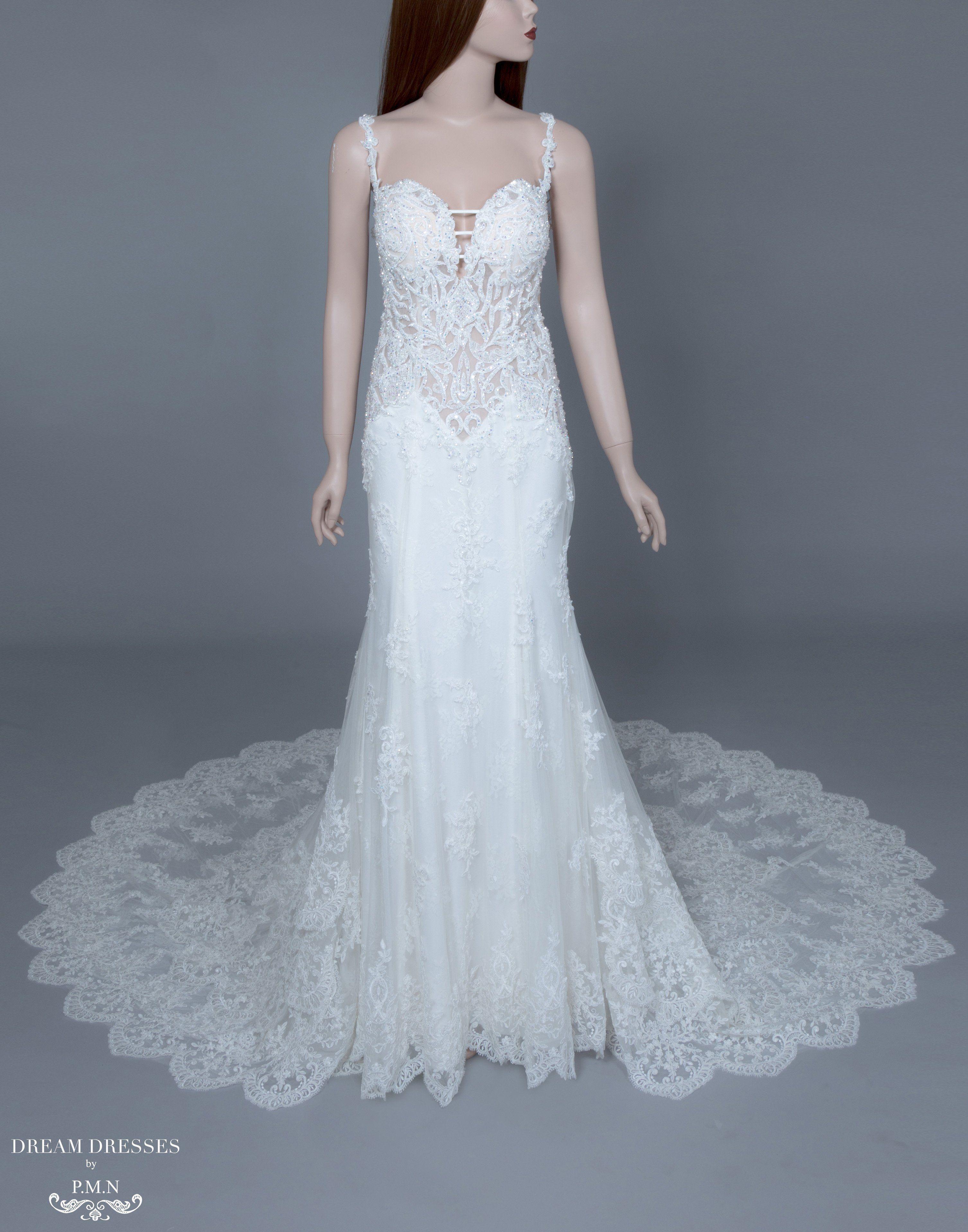 Low back mermaid wedding dress dakotah wedding dresses