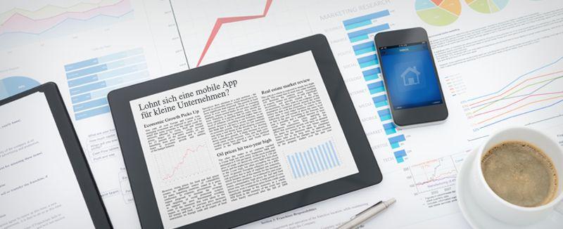 Eine eigene App auch für kleine Firmen?  Kleine und mittelständische Unternehmen können insbesondere von regional begrenzten Angeboten profitieren.
