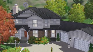 Sims 3 Lot Family House 02 Sims House Design Sims House Plans Sims House