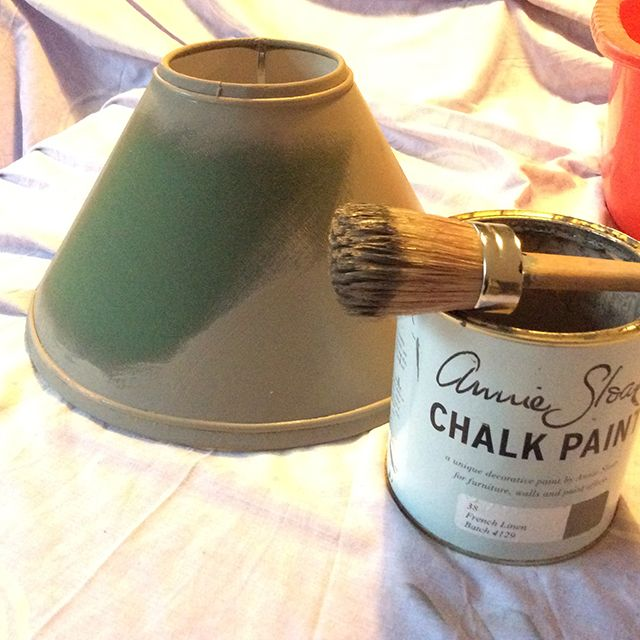 Chalk painting a lampshade 1 pinteres chalk painting a lampshade 1 more aloadofball Gallery