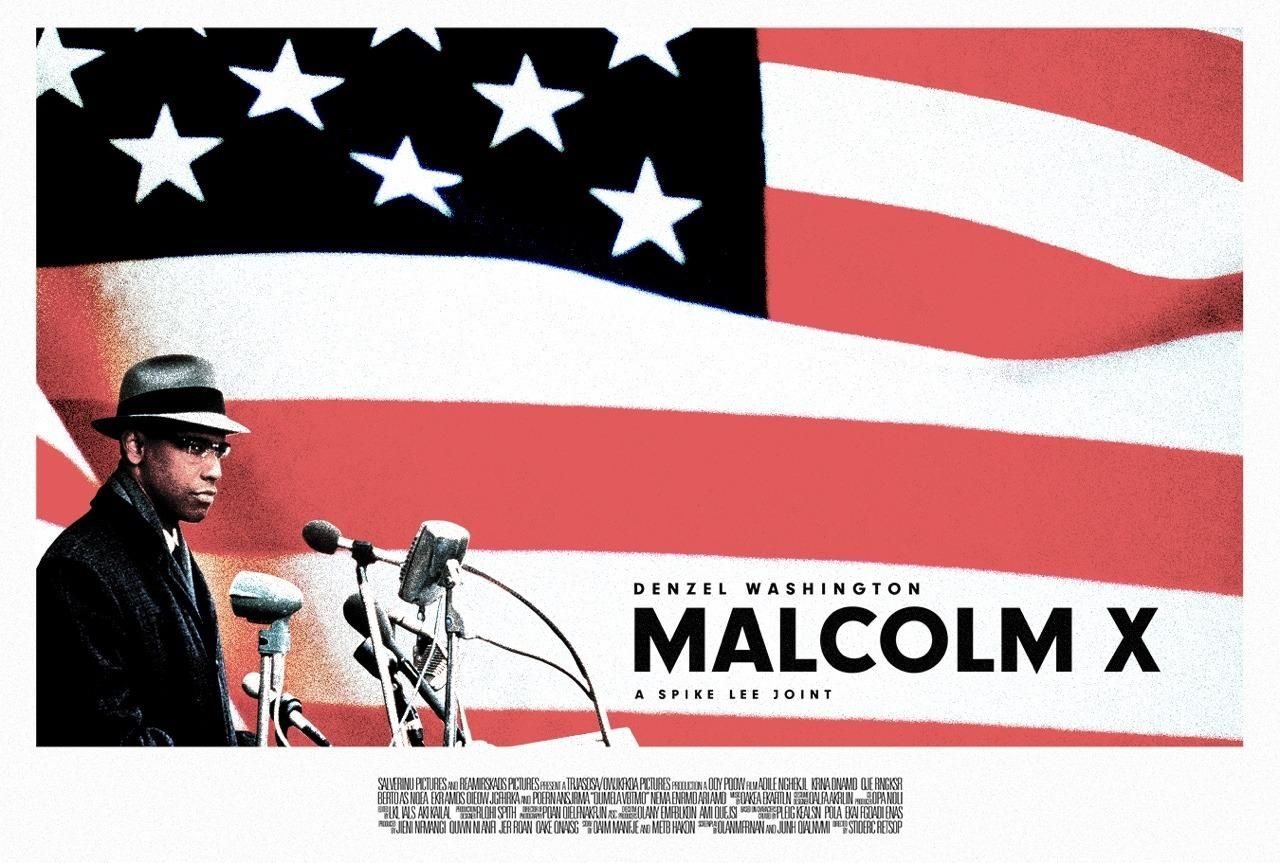 Malcolm X (1992) [1280 x 863] | Movie posters, Best movie posters,  Alternative movie posters