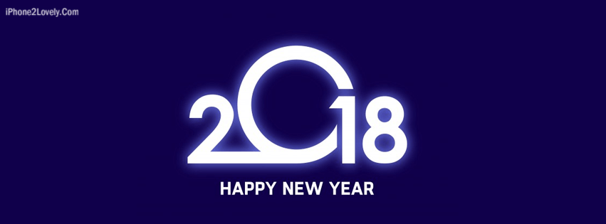 2018 stylish new year facebook cover banner image