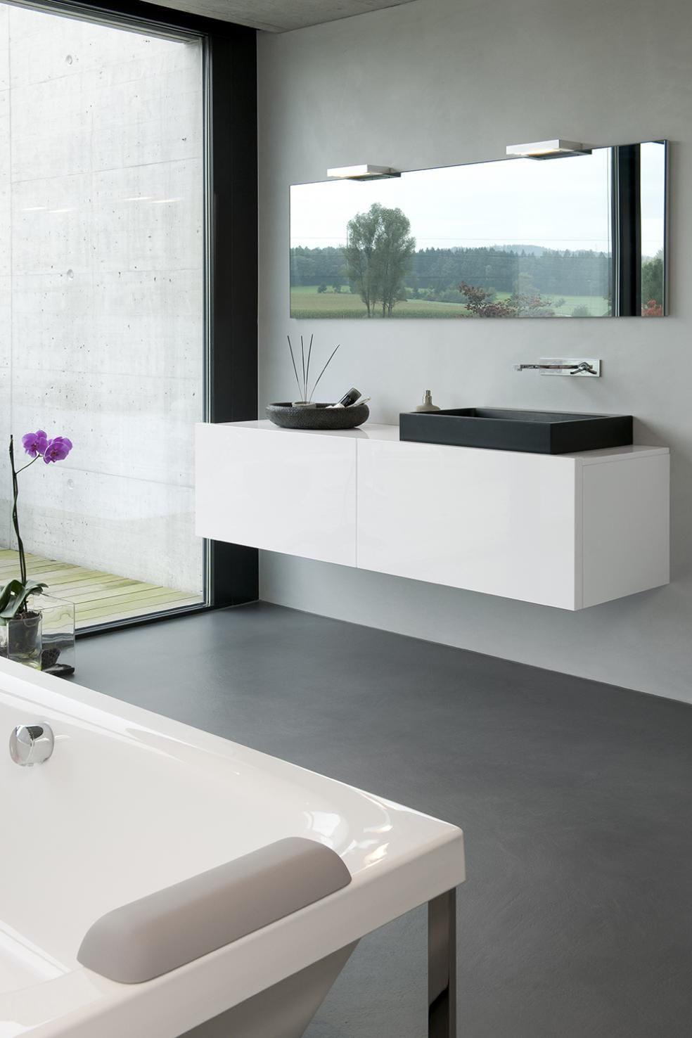 Boden Und Wandbelag Fur Badezimmer Badezimmergestaltung Haus Innenarchitektur Badezimmer