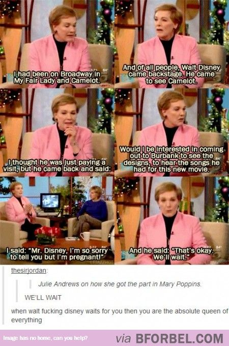 Julie Andrews, you are awesome :)