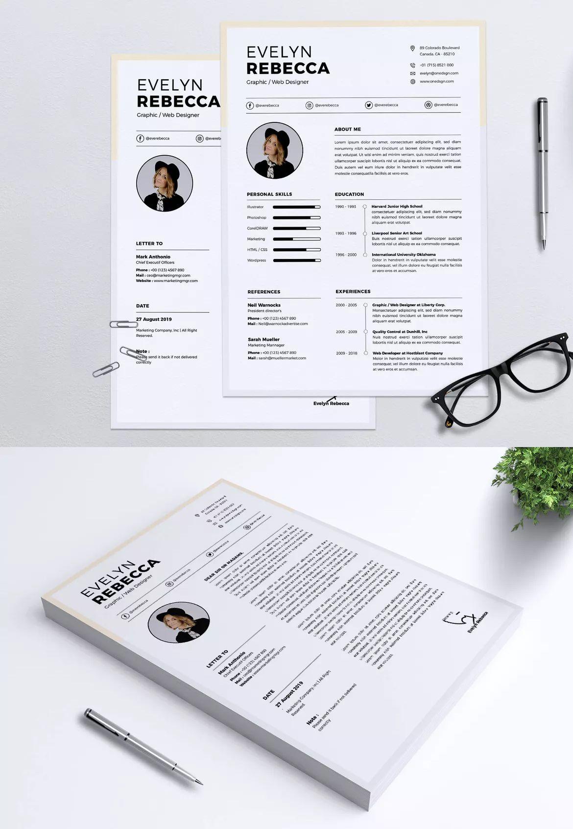 37++ Minimalist resume template psd ideas in 2021
