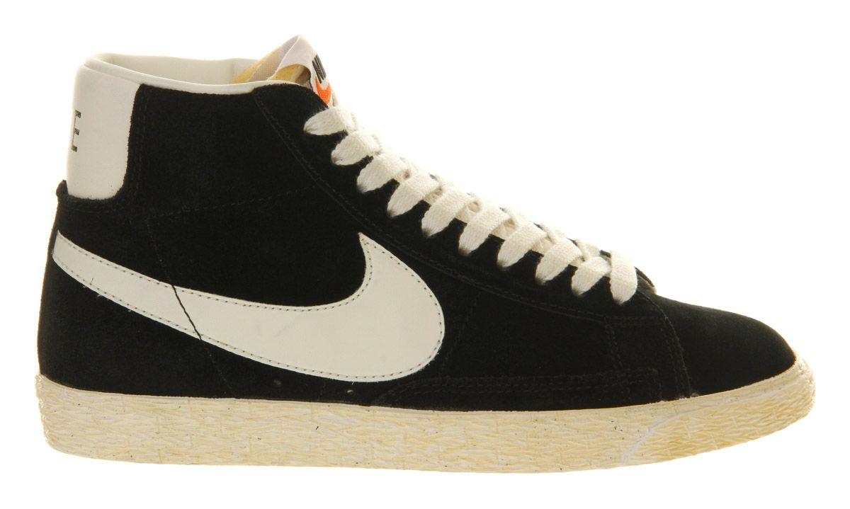 newest d71e5 30b9e Nike Blazer Hi Suede Vintage Black White - Unisex Sports ...