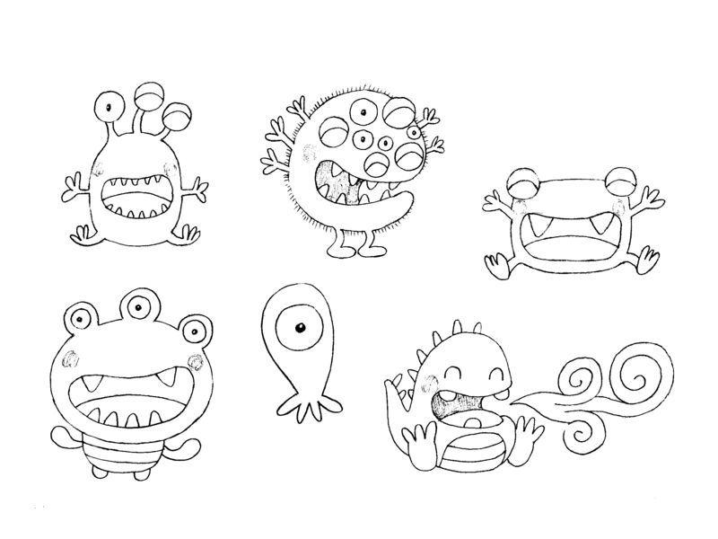 Coloriage de monstre imprimer imprimer le coloriage - Coloriage de monstres ...