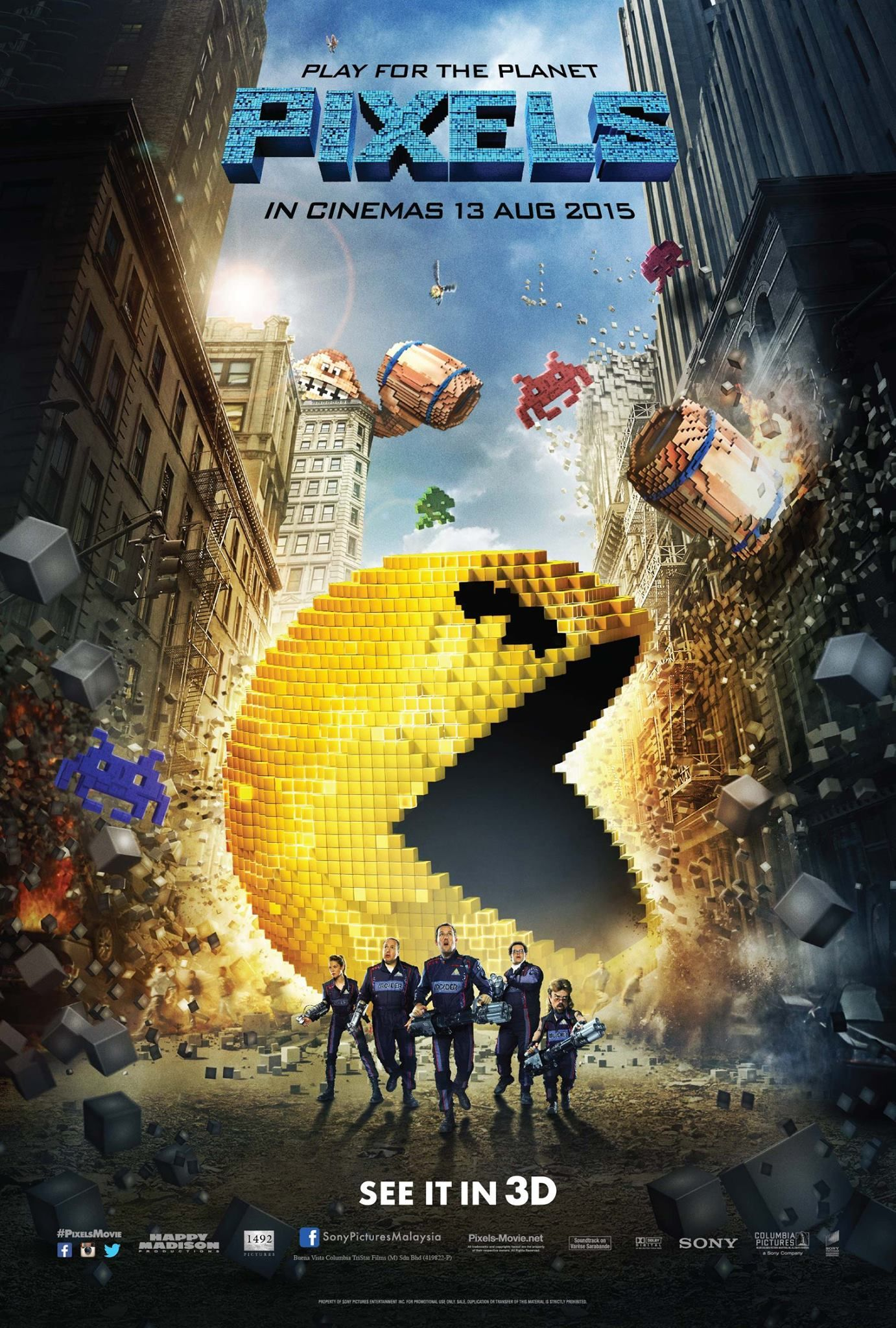 Pixels Torrent (2015) BluRay 720p e 1080p Dual Áudio Download