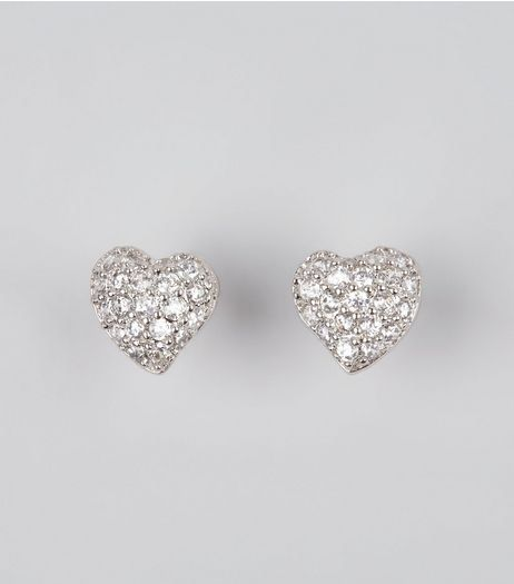 Embellished Heart Shaped Studs from New Look £7,99