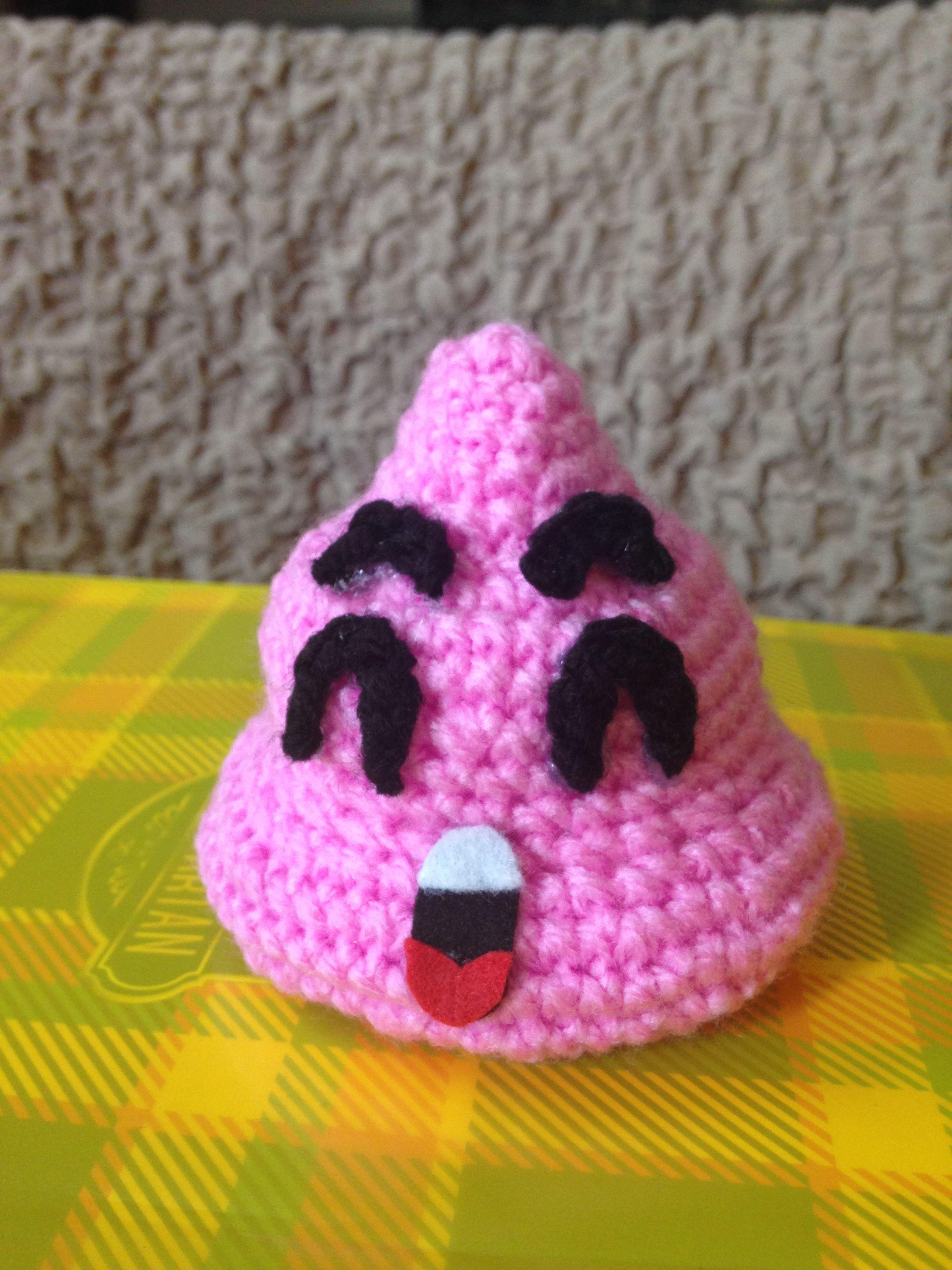 Cacchina rosa uncinetto