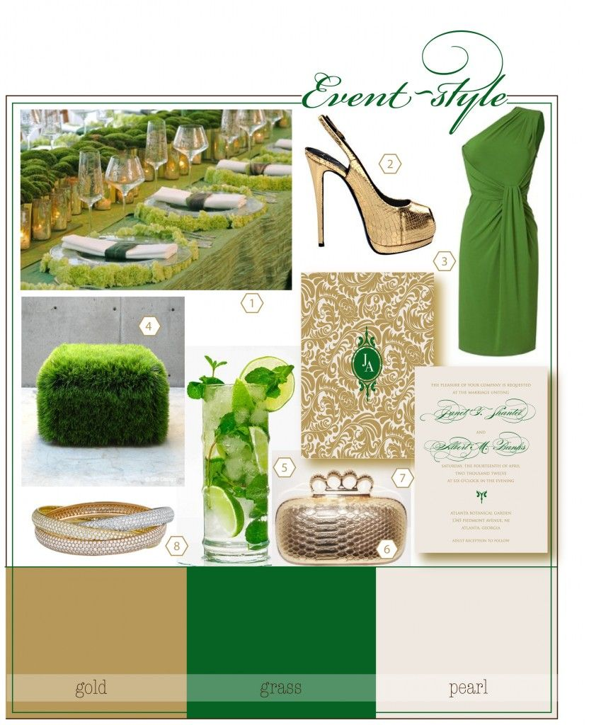 green and gold wedding colors google search - Green And Gold Color Scheme