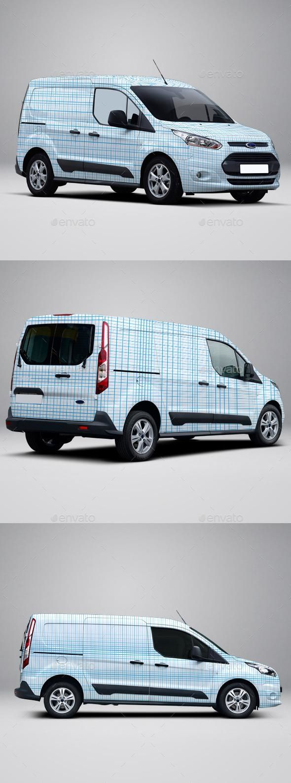 2014 Ford Transit Connect Wrap Mockup Ford Transit Mockup