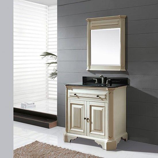 Avanity Kingswood (single) 36 Inch Distressed White Transitional Bathroom  Vanity