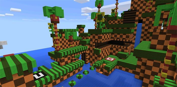 Sonic the Hedgehog [Parkour] Map for Minecraft PE