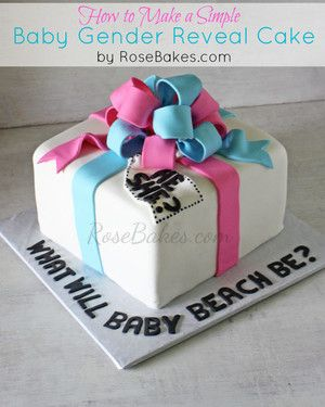 How To Make A Baby Gender Reveal Cake
