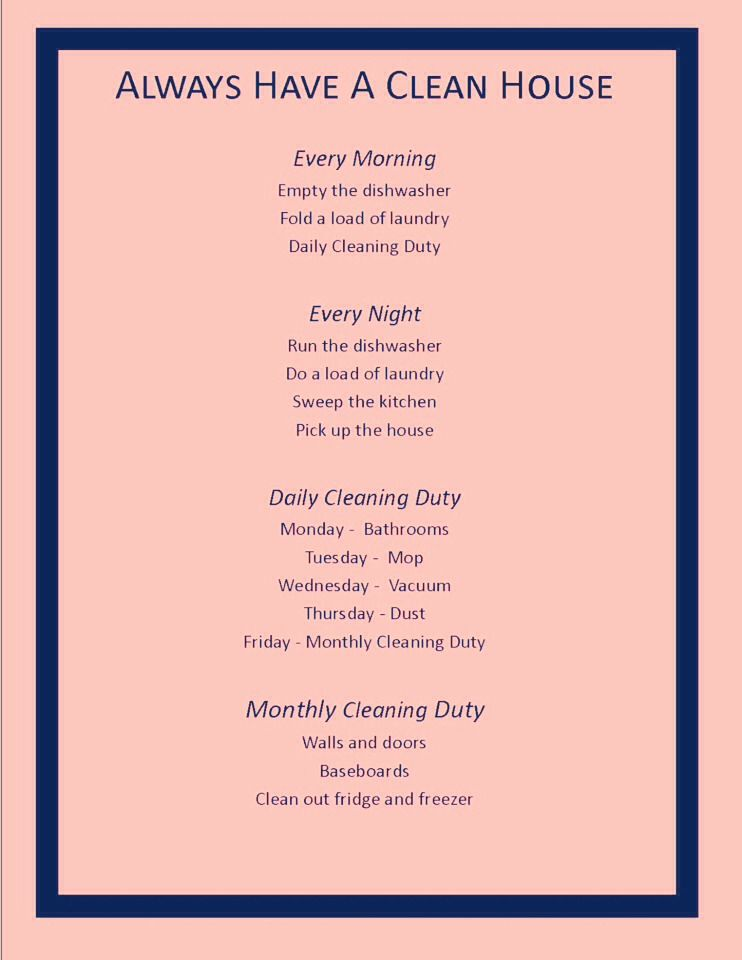Spring Cleaning Schedule Tips And Tricks