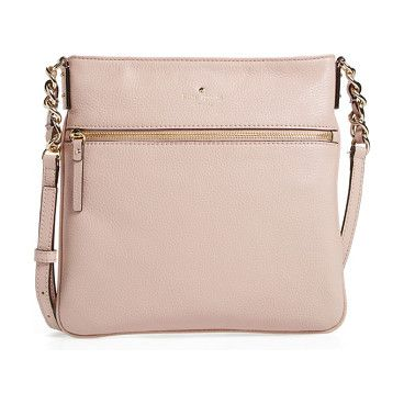 Cobble hill by Kate Spade New York. Clean, uncomplicated lines and a chain-embellished shoulder strap define a smart crossbody bag fashioned from soft, p...