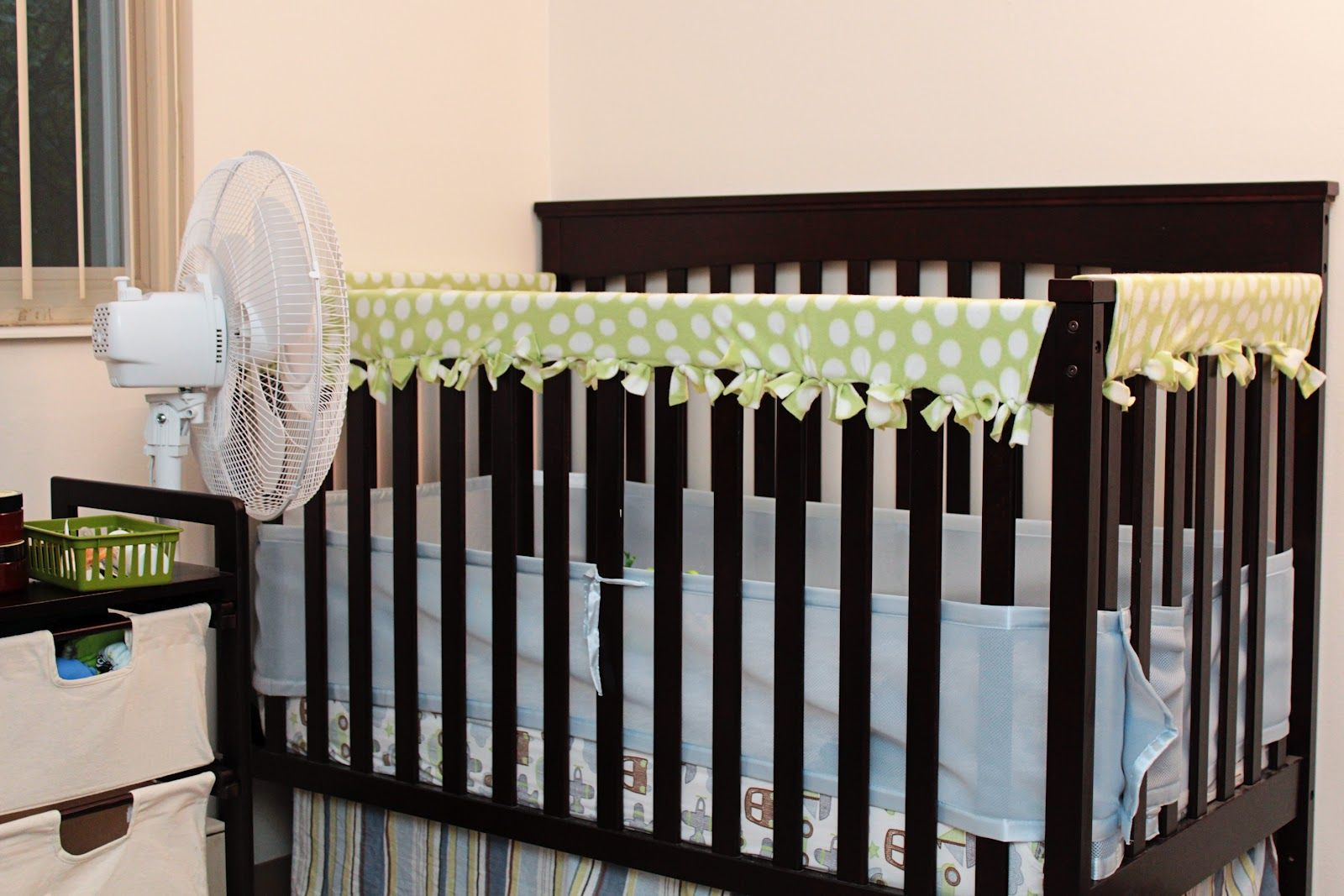 DIY Fleece Crib Rail Guard...NO SEW!! I wish I would have