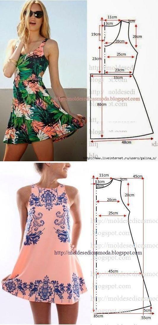 Los Vestidos Los Patrones Simples Las Manos Hábiles