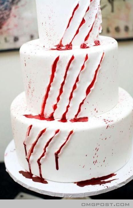 Bloody Cakethis would be a great Halloween birthday cake - halloween birthday cake ideas