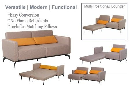 Adonis Grey Convertible Sofa Bed Sleeper Queen Size With 2 Matching Pillows Sofa Bed Sleeper Single Size Bed Sofa Bed