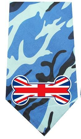 Uk Bone Flag Screen Print Bandana Blue Camo