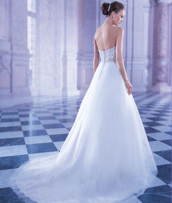 Dimitri Wedding Gowns: Demetrios Wedding Gown Style 551 (back) , Ilissa