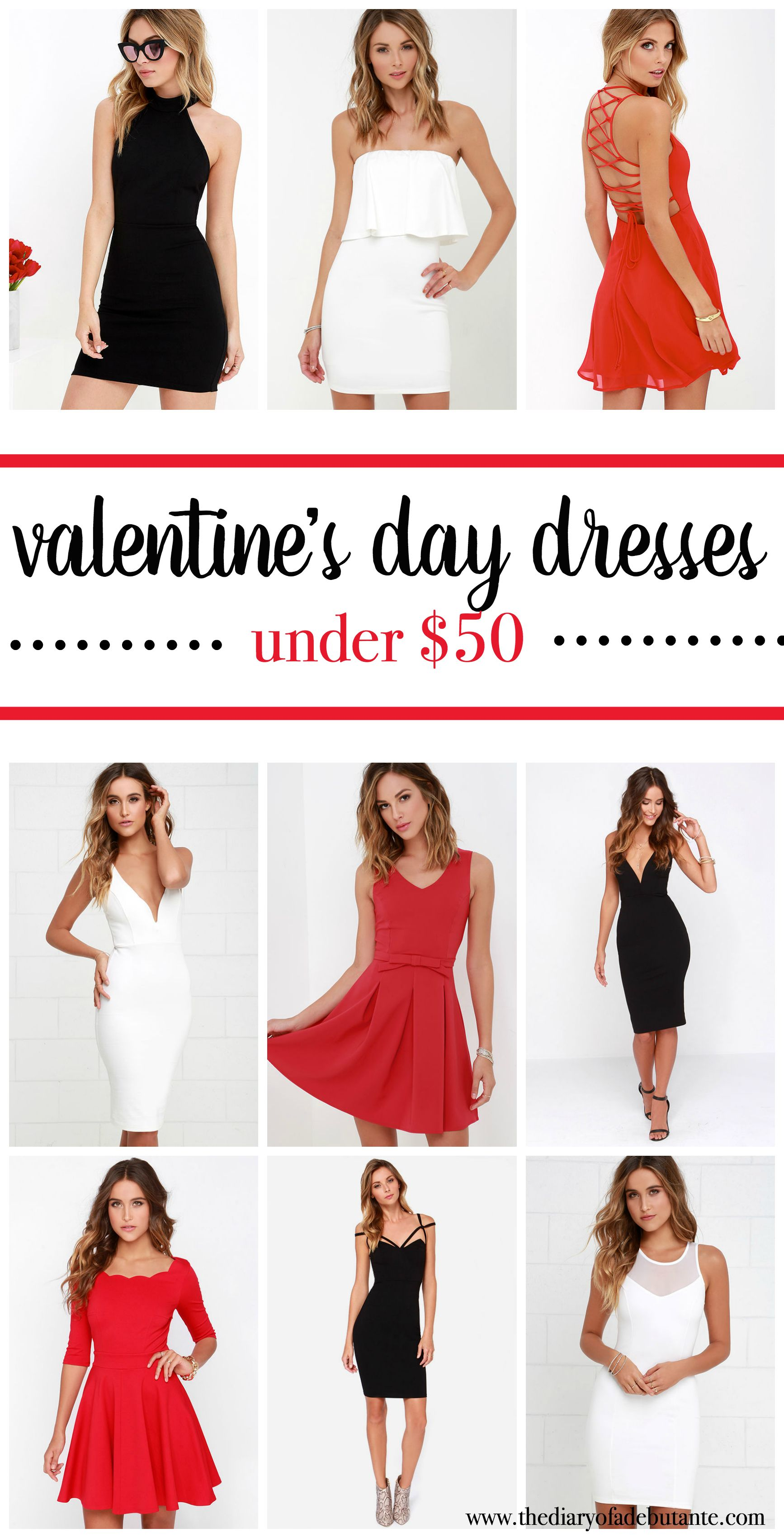 Affordable Valentineu0027s Day Dresses