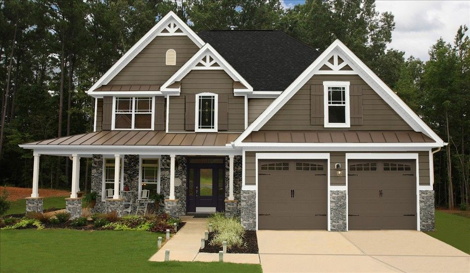 Exterior color scheme not our actual home but a sample for Bark house siding