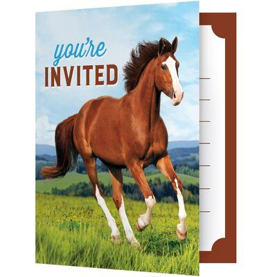 Creative Converting Wild Horse Paper Disposable Invitation | Pony ...