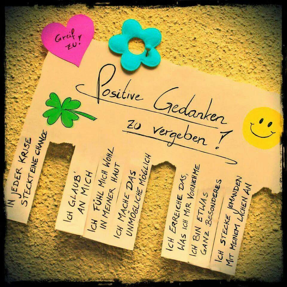 positive gedanken | zitate / quots | pinterest