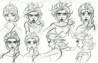 93 Gambar Sketsa Frozen Elsa