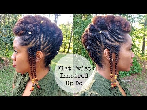 Flat twist updo hairstyles fusionofcultures inspired look find this pin and more on ebony hair this flat twist updo hairstyle pmusecretfo Images