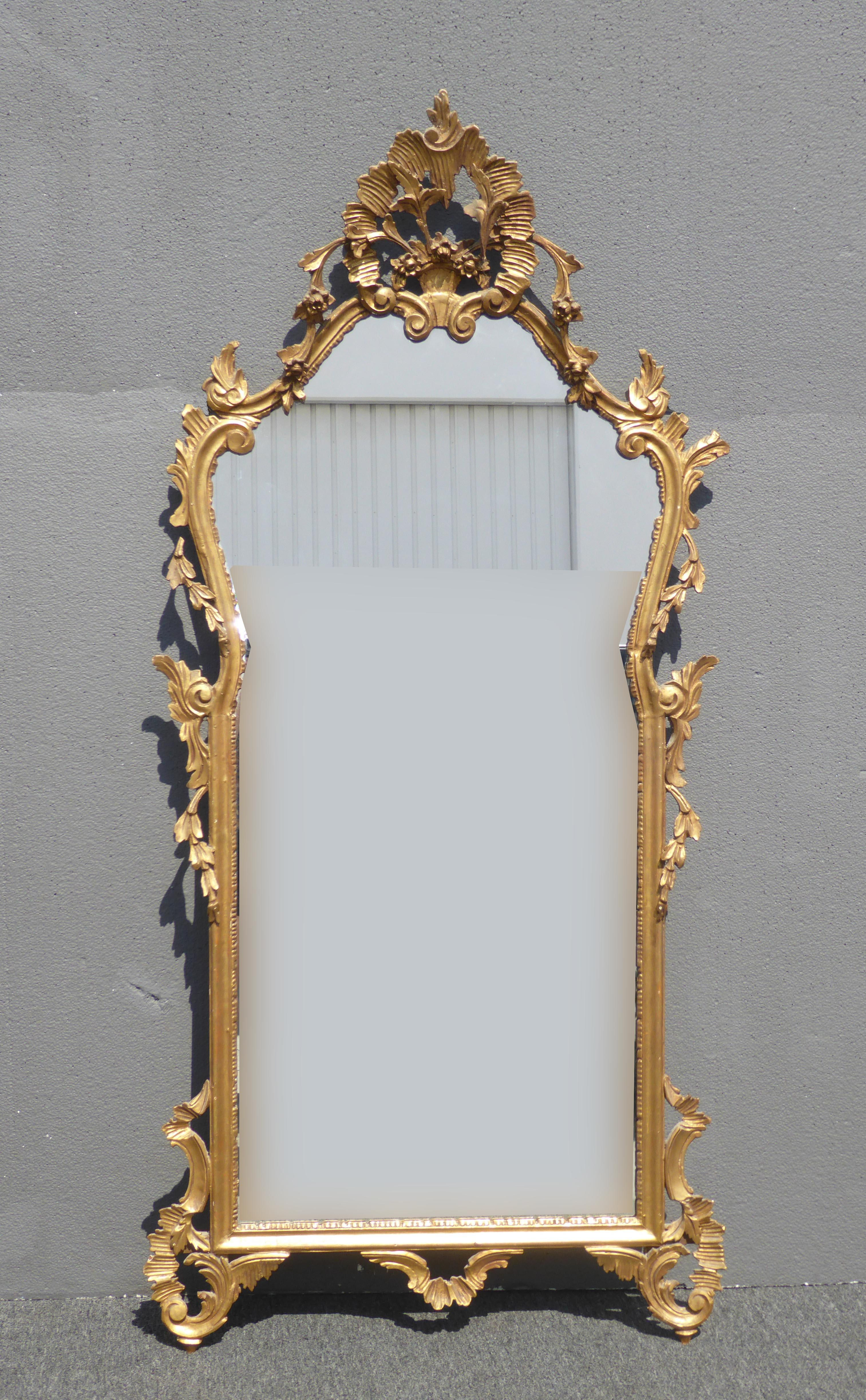 Antique French Louis Xvi Rococo Ornate Gold Wall Mirror Made In Italy Gold Mirror Wall Antique Gold Mirror Gold Walls [ 4888 x 3026 Pixel ]