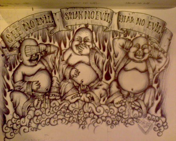 See No Evil Hear No Evil Speak No Evil See No Evil Speak No Evil Hear No Evil Buddahs Evil Tattoo Buddah Tattoo Buddha Tattoos