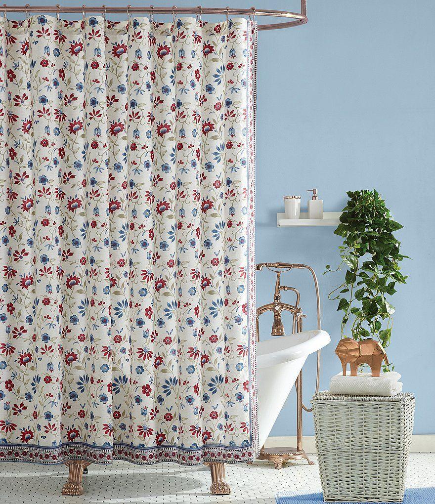 Jessica Simpson Galieri Floral Shower Curtain Galieri Simpson