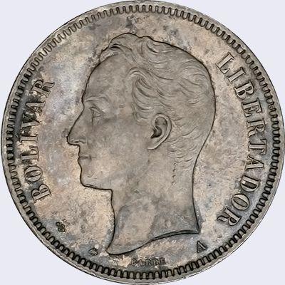 Pieza Mv50cv Aa01 Anverso Moneda De Venezuela 50 Centavos