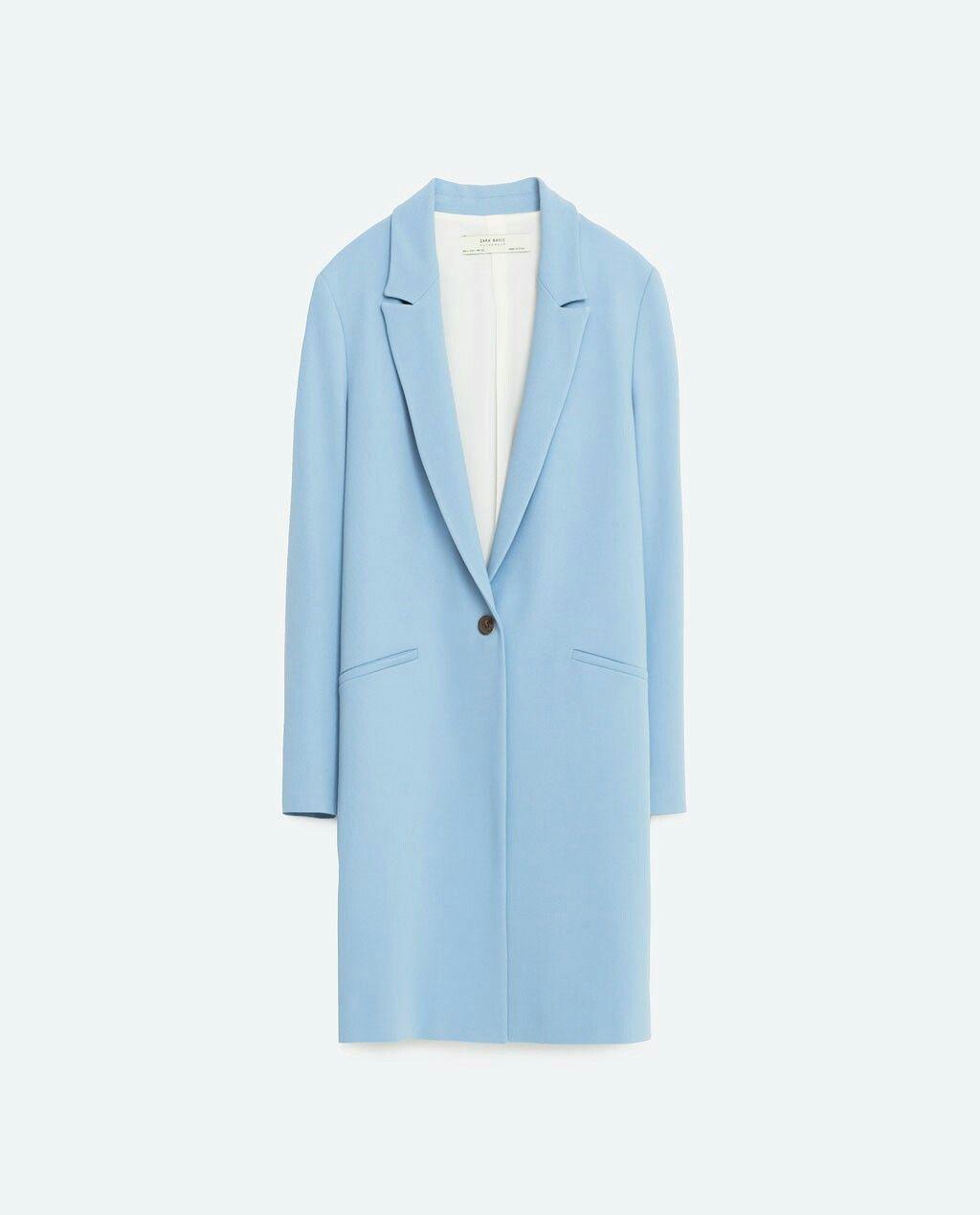 Manteau femme bleu ciel zara