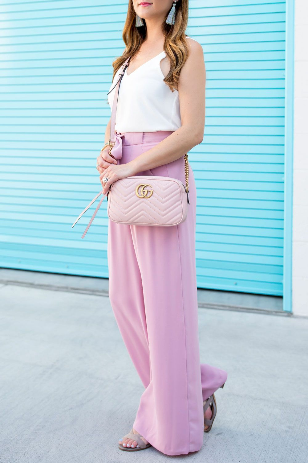 Gucci Pink Quilted Crossbody Bag
